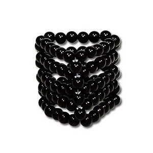 Black Beads - Cockring