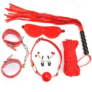 Bondage - Set RED - 9 tlg.