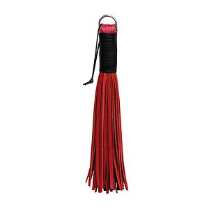 Leder Flogger - Shorty RED